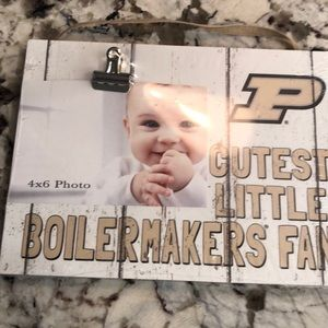 Purdue Boilermakers baby picture frame